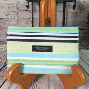 Kate Spade Striped Trifold Wallet